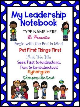 Leadership Notebook Cover Editable