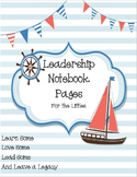 Leadership Notebook Pages