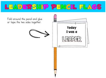 Leadership Pencil FLAGS: 8 habits- print, cut, tape & GO (download has FREEBIE)