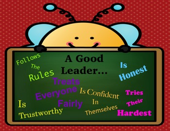 Leadership Poster: A Good Leader...  Character Traits