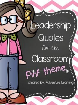 Leadership Posters in Pink
