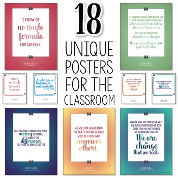 Leadership Quote Classroom Posters