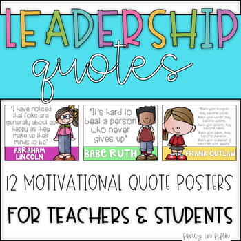 Leadership Quotes {Editable}