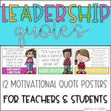 Leadership Quotes {Editable}