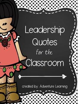 Leadership Quotes Floral & Polka Dot