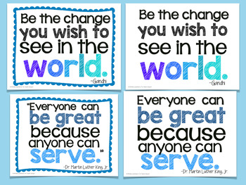 Leadership Quotes Poster Set