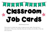 Leadership Role Classroom Job Cards