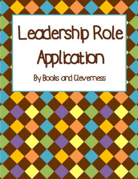 Leadership Role / Classroom Job Application