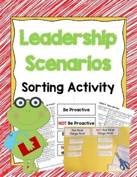 Leadership Scenario Cards Sorting Activity