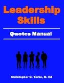 Leadership Skills Quotes Manual