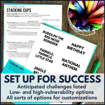 Leadership ASB Student Council Team Building Activity Lesson 6-Pack