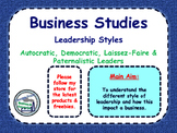 Leadership Styles - Demographic, Autocratic, Paternalistic & Laissez-Faire