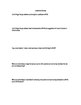 Leadership Survey- EDITABLE!