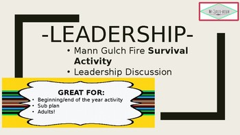 Leadership Survival Activity and Discussion