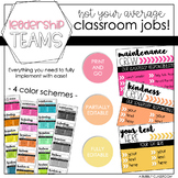 Leadership Teams - Classroom Jobs