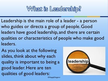 qualities that make a good leader