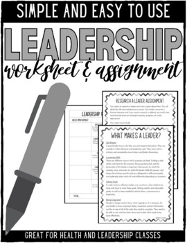 leadership worksheets for elementary students