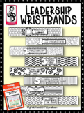 Leadership Wristbands promoting 7 habits Black-line (plus poster)