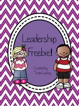 Leadership Writing Freebie