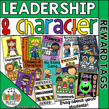 Character and Leadership Brag Tags