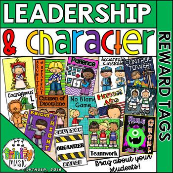 Character and Leadership Brag Tags