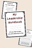 Leadership & Data Notebook with Graphs, Conferences, Goals