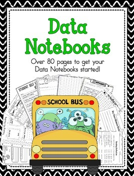 Leadership and Data Notebook with Monster Theme Graphics