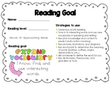 Leadership and Data Notebooks CAFE Strategies/Reading Profile
