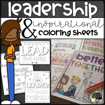 Leadership and Inspirational Coloring Sheets