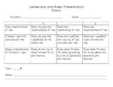 Leadership and Rules Rubric {Roles and Responsibilities}