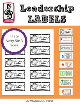 Leadership labels: 7 habits- print  & use