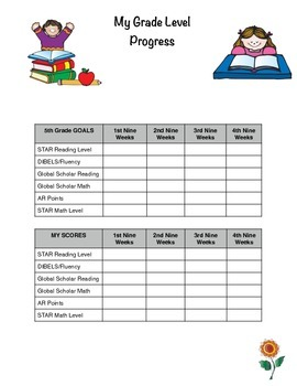 Leadership or Data Notebook for Students