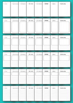 Leadership writing sheets: 8 habits in 6 different styles- print  & GO