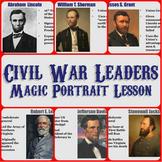 """Civil War Leaders """"Magic Portrait"""" Lesson"""