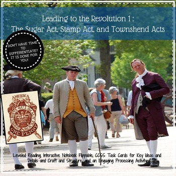 Leading to the American Revolution: Interactive Notebook and Flippable Activity