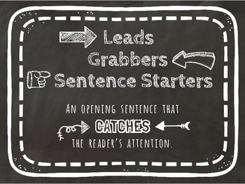 Leads - Grabbers - Sentence Starters