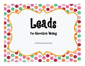 Leads Posters for Narrative Writing