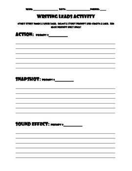 Leads Writing Activity