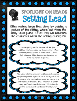 Leads and Endings Task Cards - Narrative Writing