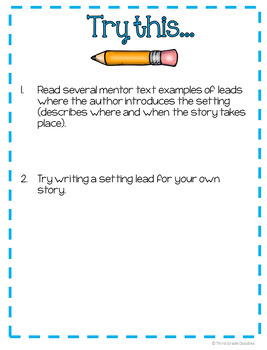 Leads and Endings Task Cards - Narrative Writing (Distance Learning)
