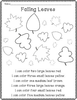 Leaves Activities (Literacy and Science)