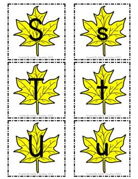 Leaf Alphabet Cards