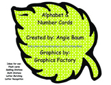 Leaf Alphabet and Number Cards