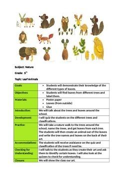 Leaf Art Lesson Plan