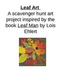 Leaf Art - Scavenger Hunt