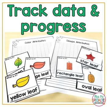 Leaf Attributes Task Box Cards   Descriptive Language - Speech therapy - Autism