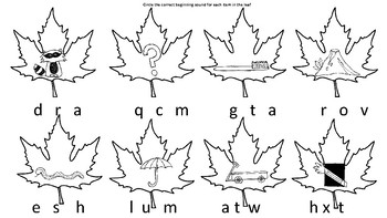 Leaf Beginning Sounds