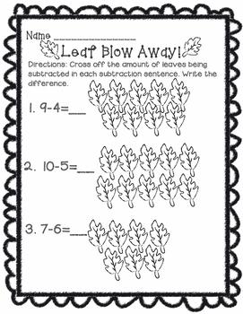Leaf Blow Away Subtraction