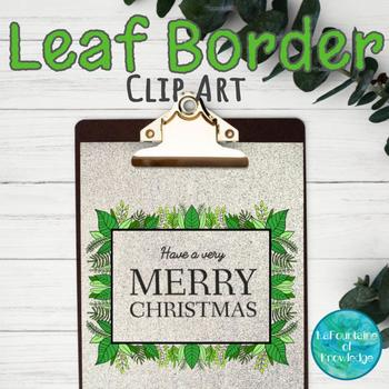 leaf border clip art by lafountaine of knowledge tpt rh teacherspayteachers com leaf border clip art free leaf border clip art free