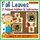 Leaf Build 3 Addend Addition or Subtraction Number Sentences